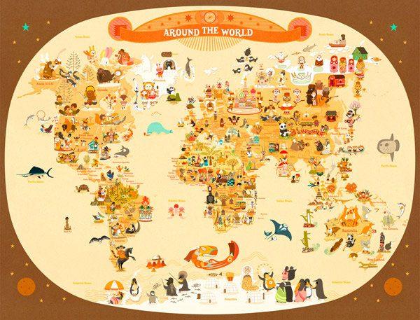 Mapa De Viajes Familias En Ruta