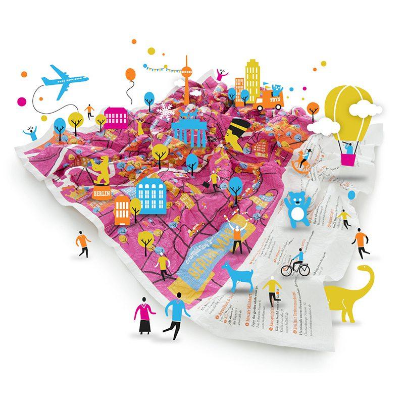 Mapas crumpled city junior que divertido es viajar for Map designer free