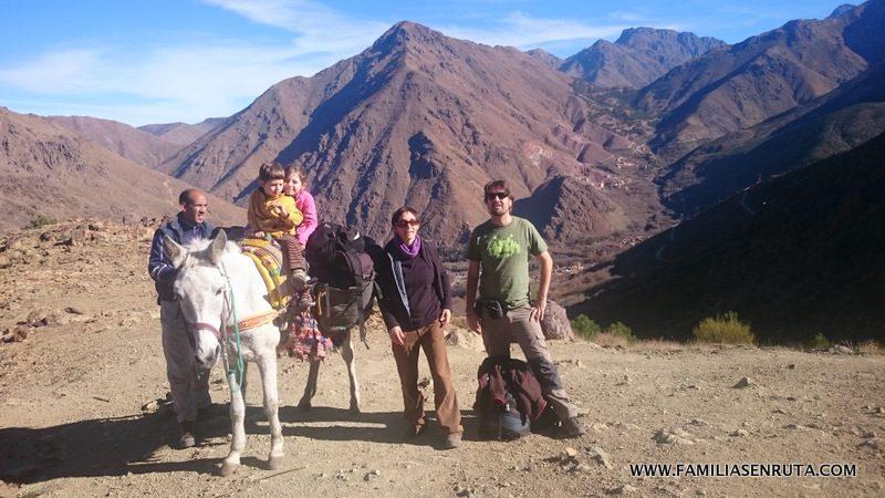 En el Alto Atlas con niños