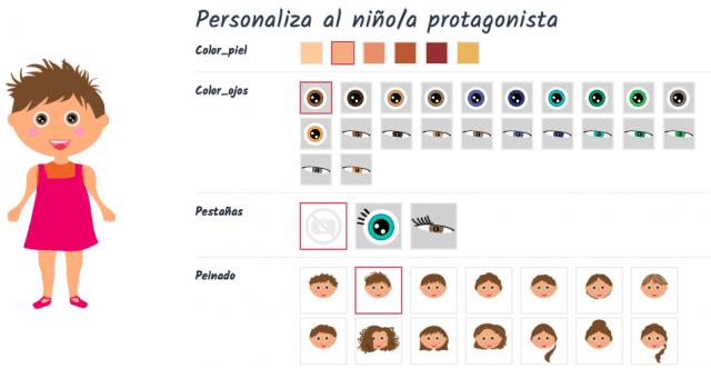 Personalización de cuento Ludobooks